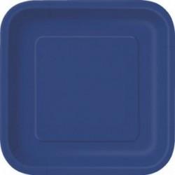 Πιάτα Μπλε Τετράγωνα Μικρά
