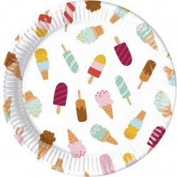 Πιάτα Μεγάλα Σχέδιο Παγωτό