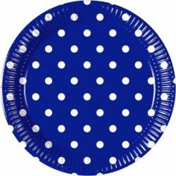 Πιάτα Μπλε Πουά Μεσαία