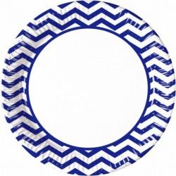 Πιάτα Μπλε Chevron Μεγάλα