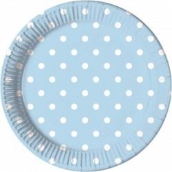 Πιάτα Γαλάζια Πουά Μεγάλα