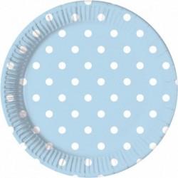 Πιάτα Γαλάζια Πουά Μεσαία