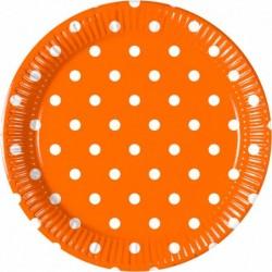 Πιάτα Πορτοκαλί Πουά Μεσαία
