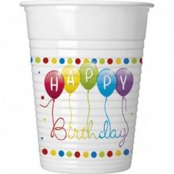 Ποτήρια Λευκά Happy Birthday