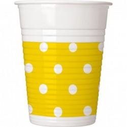 Ποτήρια Κίτρινα Πουά