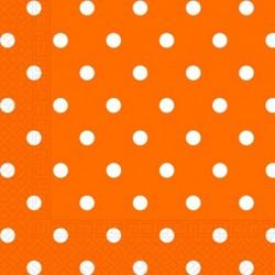 Χαρτοπετσέτες Πορτοκαλί Πουά