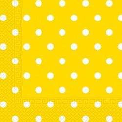Χαρτοπετσέτες Κίτρινες Πουά