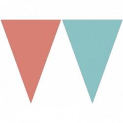 Σημαιάκια  Ροζ - Τυρκουάζ