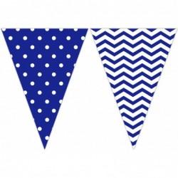 Σημαιάκια Μπλε Πουά - Chevron