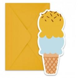 Προσκλητήρια Σχέδιο Παγωτό