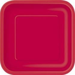Πιάτα Κόκκινα Τετράγωνα Μικρά