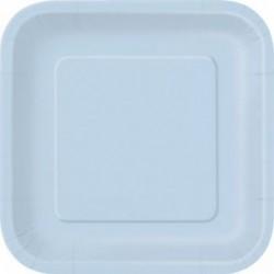 Πιάτα Γαλάζια Τετράγων Μικρά