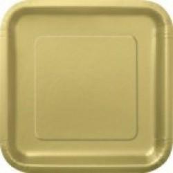 Πιάτα Χρυσά Τετράγωνα Μεγάλα