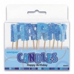 Κεράκια Happy Birthday Μπλε...