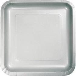 Πιάτα Ασημί Τετράγωνα Μεγάλα