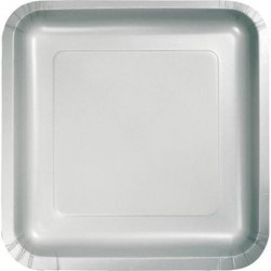 Πιάτα Ασημί Τετράγωνα Μικρά