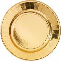 Πιατέλες Χάρτινες Χρυσές